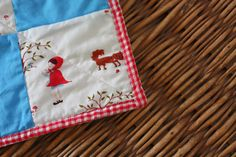 pieceful life: little quilt monday~~~doll quilt with faux binding...