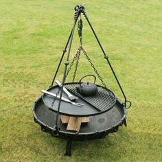Tranform your firepit into a BBQ with the tripod cooking stand and  barbecue rack. ABell have the best premium products for your home and garden.  https://www.abell.co.uk/product/bell-tripod-cooking-stand-with-bbq-rack/