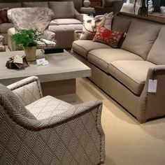 CR Laine Furniture - High Point, NC chair upholstered in Lacefield Designs Tahitian Tusk textile