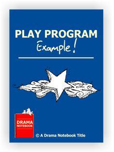 Play Program Example - Drama Notebook