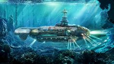 Image result for fantasy art submarines