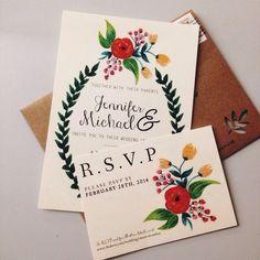 boho chick wedding invitations #wedding #invitations #boho