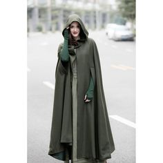 maxi wool cloak