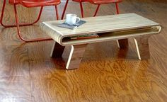 Stripes coffee table.