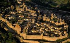 Carcassonne castle in rural southern France, was one of the best medieval walled cities that I've seen in my travels. Medieval Town, Medieval Castle, Beautiful Castles, Beautiful Places, The Places Youll Go, Places To See, Carcassonne France, Walled City, Places