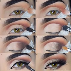 Thanks to wear our contact lense ! Eyebrow Makeup Tips, Makeup Eye Looks, Eye Makeup Steps, Makeup For Brown Eyes, Cute Makeup, Skin Makeup, Eyeshadow Makeup, How To Eyeshadow, Neutral Eyeshadow