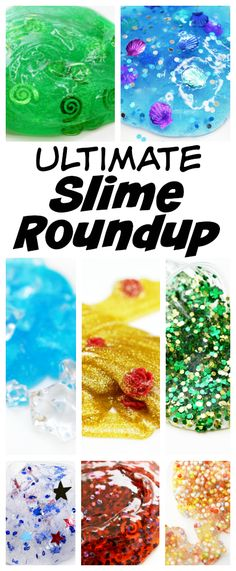 Get ready for the ultimate slime roundup! Edible slimes, glow in the dark slimes, Disney-themed slimes-they're all here! Includes slime recipes, slime supply lists and more! Dozens and dozens of slimes for you to make!