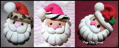 Large Santa Pendants Available in Zebra   by PegsClayGround, $4.25