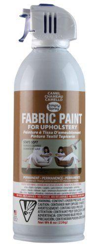 Simply Spray Upholstery Fabric Spray Paint Camel Brown by Simply Spray, http://www.amazon.com/dp/B0077CB7MY/ref=cm_sw_r_pi_dp_BftXpb100NXB7