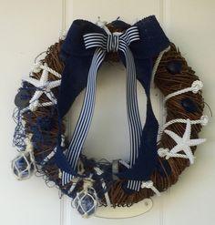 Kranssi meriteemalla/Nautical wreath to my door