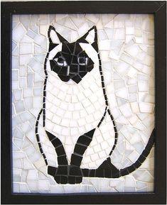 Black & white mosaic cat