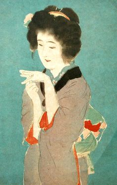 Woman Vintage Japanese Print Ukiyoe Print by by VintageFromJapan, $6.50