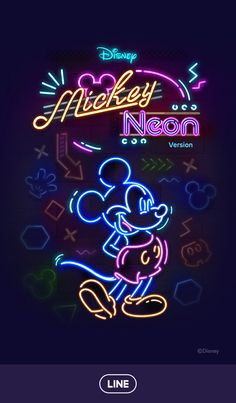 Image discovered by Naty. Find images and videos about wallpaper, disney and neon on We Heart It - the app to get lost in what you love. Mickey Mouse Wallpaper Iphone, Cute Disney Wallpaper, Cute Cartoon Wallpapers, Wallpaper Iphone Cute, Galaxy Wallpaper, Pretty Wallpapers, Mickey E Minnie Mouse, Mickey Mouse Images, Mickey Mouse Cartoon