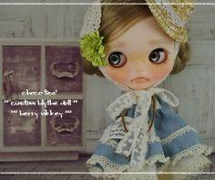 choco tea * Custom Blythe *** Berry Vicky ***  Buy her here:   #blythe #blythedolls #kawaii #cute #rinkya #japan #collectibles #neoblythe #customblythe