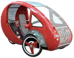 Organic Transit-a little electric plug-in that can go 30mph, or can be pedaled! Fun