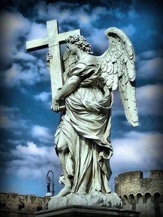 Angel Engel mit Kreuz