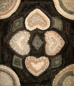 Hooked rug.