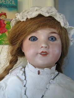 sfbj dolls | My favorite, a french SFBJ doll which face has been polished too hard ...