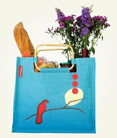 """Jute Nightingale Bag by June Fifteen. $18.99. 13H x 14W x 7D"""" 