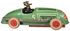 c.1940 Automatic Toy Co., Donald Duck Lightning Racer (rubber tires)
