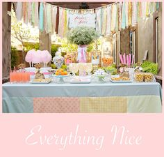Sugar and Spice Party Theme for the Girls (combine with Snips and Snails party theme for the boys?)