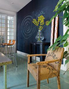 really want one chalkboard wall, sewing stuff wall