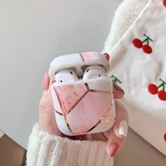 Cute Ipod Cases, Iphone Cases, Airpods Apple, Accessoires Iphone, Earphone Case, Tablet, Air Pods, Airpod Case, Pink Marble
