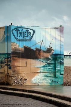 Brighton street art / graffiti: 'Toilet Graffiti' - Scott Kelby's Photowalk (2014)