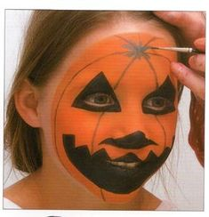 Maquillage Halloween : Belle citrouille