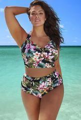 High Quality NEW 2016 Fashion Sexy Neoprene Push-Up Padded Bra 2-PC Bikini Bathing Suit 17 Styles L-6XL - as picture 4 / XXL