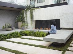 San Francisco home featuring planted terraces influenced by Japanese garden design. (via Gau Paris) Modern Landscape Design, Landscape Plans, Modern Landscaping, Landscape Architecture, Garden Landscaping, Landscaping Ideas, Architecture Design, Small Gardens, Outdoor Gardens