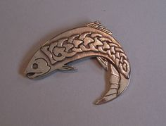 Celtic Salmon of Knowledge Brooch or Pendant in Bronze by MasterArks on Etsy https://www.etsy.com/listing/176556202/celtic-salmon-of-knowledge-brooch-or