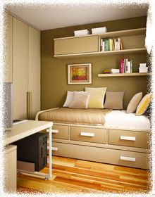 color scheme, platform bed