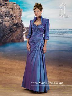 Taffeta Gown with Jeweled Bodice