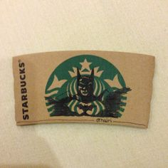 This guy's Starbucks sleeve art is kind of the best ever