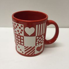 Waechtersbach Red Heart Hearts Coffee Mug Cup Valentine's Day Love Germany