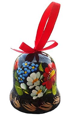 Ukrainian Souvenir Folk Art Petrykivka Style Wooden Hand Painted Decorative Bell  Perfect gift for Her from the Heart of Ukraine * See this great product.