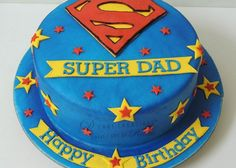 Dad Birthday Cake Decorations For Fathers Day D Creations Cakes Dads Ideas Birthday Cakes For Men, Birthday Cake For Father, Fathers Day Cake, Daddy Birthday, Homemade Birthday Cakes, Superman Cakes, Gift Box Cakes, Giraffe Cakes, Dad Cake