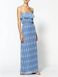 Tulle Printed Chiffon Maxi | Piperlime