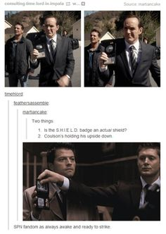 oh coulson..... and hey supernatural nice to see you