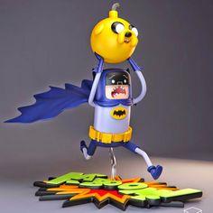 Tutano Mole: Uma excelente coleção de brinquedos que mistura Batman e Hora da Aventura
