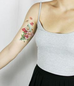 Temporary tattoos  floral tattoo  vintage tattoo  by pepperink