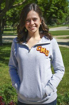 CMU Central Michigan Gray Ladies 1/4 Zip