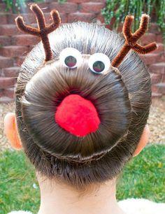 Peinados especiales para Navidad: el reno Rudolph
