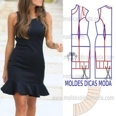 LBD with flounce from MOLDE DE VESTIDO COM BABADO