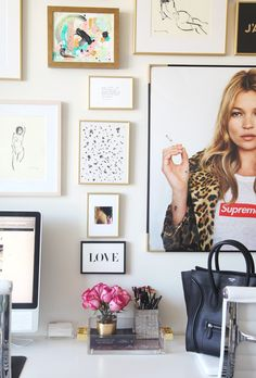 MadeByGirl: My Office Gallery Wall + Tips