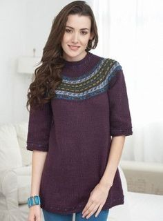 Stay warm in style this winter with the Modern Icelandic Sweater. This Fair Isle pattern features an updated colorwork yoke, based on traditional knitting designs. Sweater Knitting Patterns, Knitting Designs, Knit Patterns, Clothing Patterns, Jumper Patterns, Crocheting Patterns, Knitting Projects, Vogue Knitting, Free Knitting