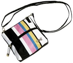 Check out our Cabana Stripe Glove It Ladies 2-Zip Convertible Cross-body Bags! Find the best golf gear and accessories at Lori's Golf Shoppe. Click through now to see this Cross-body Bags!
