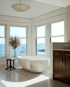 Pebble Tile Design Ideas, Pictures, Remodel, and Decor - page 7 Dream Bathrooms, Beautiful Bathrooms, Luxurious Bathrooms, Modern Bathrooms, Glamorous Bathroom, Master Bathrooms, Master Bedroom, Bedroom Decor, Home Interior Design