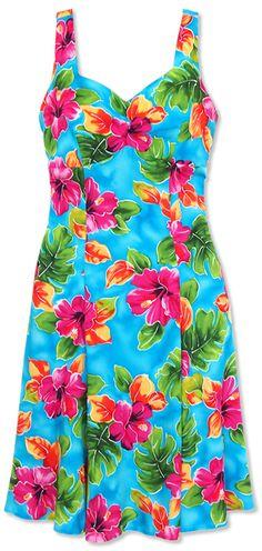 831f1bca65d My dress for my brothers hawiian wedding! hoopla blue molokini hawaiian  sundress Hawaiian Sundress